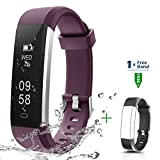 Fitness Tracker - CHEREEKI Activity Tracker IP67 Waterproof with Replaceable Strap - Smart Sports Watch Wristband Slim Bracelet Compatible with Android and iOS Smartphones