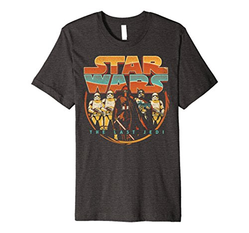 Mens Star Wars Last Jedi Vintage Retro Kylo Ren Premium T-Shirt Medium Dark Heather
