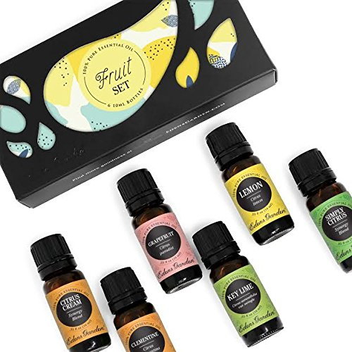 Edens Garden Fruit 6 Set, Best 100% Pure Essential Oil & Essential Oil Synergy Blend Aromatherapy Kit (For Diffuser & Therapeutic Use), 10 ml