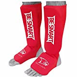 feet guard - Kids Shin Instep Pads MMA Leg Foot Guards Muay Thai Kick Boxing Guard Protector (Red, XXXS ( 3 to 8 Years ))
