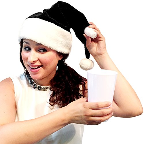 Santa Hat Flask (Black) (Black Santa Hat)