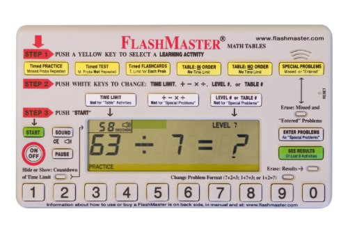 Flashmaster: Handheld Computer for Mastering All Basic ''Math Facts'' that Makes Flashcards Obsolete by FlashMaster (Image #7)