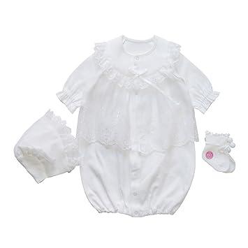 f47a9a6ce972c 3点セット 日本製 春秋物素材 スタンダードなデザイン 新生児ベビー用セレモニードレス