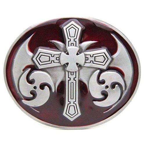 Belt Buckle Scriptures Cross Pattern Vintage Horseman Prayer Celtic Iron Cross Skull Cowboy Lot Leather