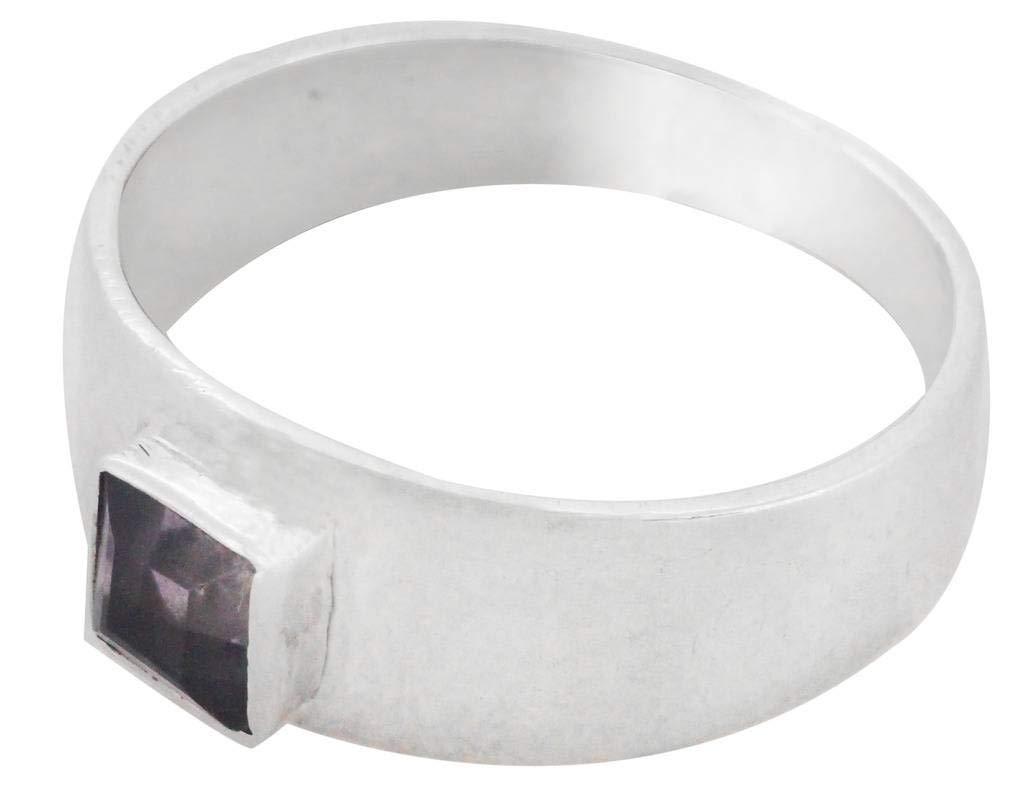 M/s Gajraj Amethyst 925 Sterling Silver Ring for Women, US-11.5