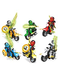 Baomabao 6 X Minifigures Ninjago Toys Ninja Zane KAI Lloyd Motorcycle Chariot Blocks Z017 BOBEBE Online Baby Store From New York to Miami and Los Angeles