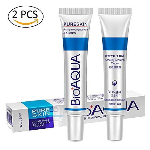 Acne Scar Treatment, 2Pcs BIOAQUA Anti Acne Cream Scar Remover,Oil Control...