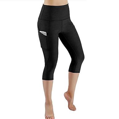 6591a90b56c012 Pocciol Women Love 2018 Newly Mesh Panel Capri Leggings Short Soft Workout  Yoga Running Crop Pants