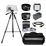 Professional Accessory Package for Sony HVR-HD1000U, HXR-MC1500E, HXR-MC2000U Shoulder Mount AVCHD Camcorder. Includes Professional 72'' Heavy Duty Tripod + High Definition Wide Angle & Telephoto Lenses + Pro 3pcs Filter Kit + Extended Life Replacement Bat