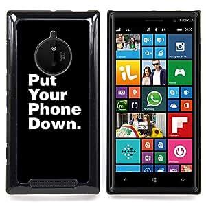 Stuss Case / Funda Carcasa protectora - Teléfono de Down muerta Foco Cita - Nokia Lumia 830