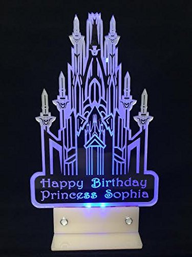 Frozen-Castle-Inspired-Cake-Topper-Personalized-in-Acrylic-and-LED-Light