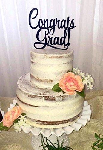 [USA-SALES] Graduation Cake Topper, Congrats Grad Cake Topper, Graduation Party, Grad Decoration, by USA-SALES Seller -