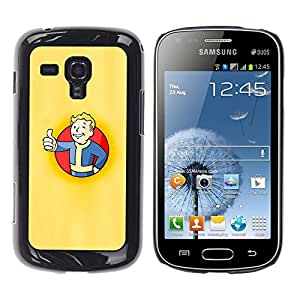 EJOY---Cubierta de la caja de protección la piel dura para el / Samsung Galaxy S Duos S7562 / --Bóveda Boy Póster