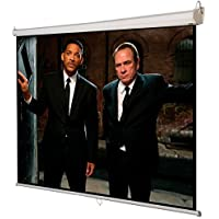 Safeplus Manual Pull Down Projection Screen with Auto-lock, Wall & Ceiling Installation Home Theater Office Presentation 1:1 Projector Screen Square 84 x 84 View 119 Diagonal