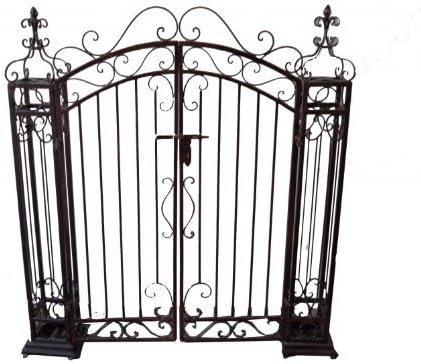 pforte, de metal, Metal Decoración – Puerta, Jardín De Las Puertas, Jardín, Jardín Decoración, Metal en aspecto oxidado: Amazon.es: Jardín