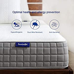 Queen Mattress- Sweetnight Breeze Queen Size Mattress, Medium Firm Memory Foam Mattress for Sleep Cool & Pressure Relief…