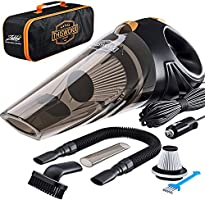 Portable Car Vacuum Cleaner: High Power Corded Handheld Vacuum w/ 16 Foot Cable - 12V - Best Car & Auto Accessories Kit...