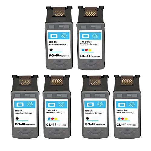 ESTON 6Pack Remanufactured Ink Cartridge for PG-40 and CL...