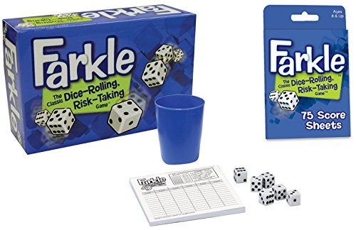 Dice Game Bundle: Farkle and Farkle Score Sheets (2 Items)