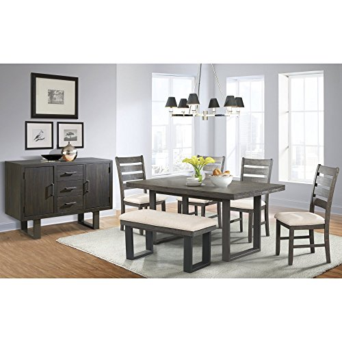 Sullivan Dining Table, 4 Side Chairs, Bench & Server