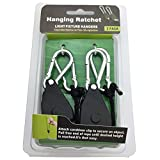 """Cheap Bayyee HG18 1Pair 1/8"""" Adjustable Rope Ratchet Hangers,Nylon Ropes Hanger with Steel Hooks, Max Weight 150LBS for Indoor Gardening & Hydroponics Fixtures"""
