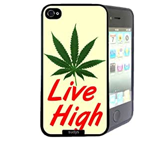 iPhone 4 4S Case ThinShell TPU Case Protective iPhone 4 4S Case Shawnex Live High Weed Hipster Quote