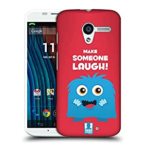 Head Case Designs Laugh Motivational Monsters Protective Snap-on Hard Back Case Cover for Motorola Moto X