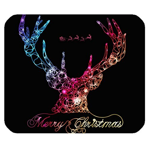 Computer Non-Slip Rubber Mouse Pad with Christmas Tree logo ()