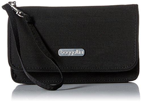 Baggallini Small Wallet - Baggallini Flap Wristlet, Black/S
