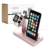 RIRPU 2 in 1 Multi-Charging Station for iWatch and iPhone, Apple Charging Dock with Firm Grip, Durable Charging Stand for All Apple Watch Series