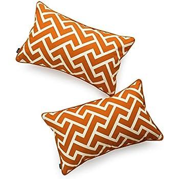 Amazon Com Hofdeco Decorative Lumbar Pillow Cover Indoor