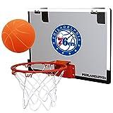 NBA Philadelphia 76Ers Game On Indoor Basketball Hoop & Ball Set, Regular, Red