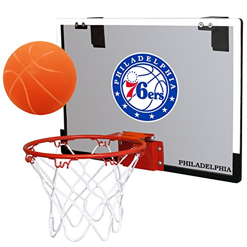 fan products of NBA Philadelphia 76Ers Game On Indoor Basketball Hoop & Ball Set, Regular, Red