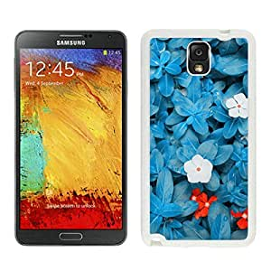 BINGO new arrived Beautiful Blue Flower Samsung Galaxy Note 3 Case White Cover by icecream design