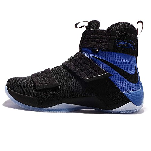 NIKE Mens Lebron Soldier 10 SFG EP, Black/Black-Game Royal, 13 M US