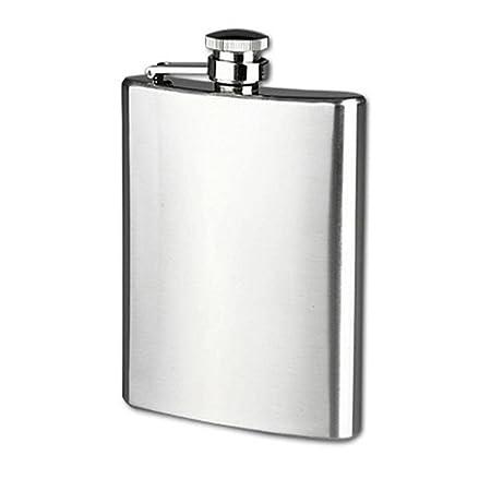 XL Hip Flask Stainless Steel Whisky 1.7L Alcohol Vodka Giant Jumbo Gift Set