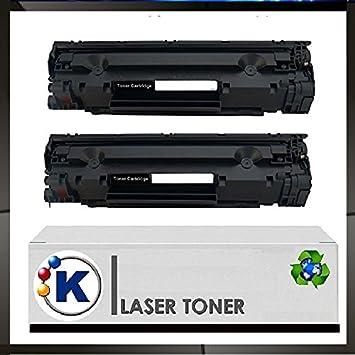 KONVER - CE285A 2 Tóner compatible para impresora HP Laser jet ...