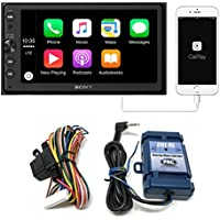 Sony XAV-AX100 Media Receiver with Bluetooth, Apple CarPlay, Android Auto and Steering Wheel Control Interface