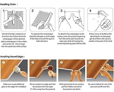 CleverPL Mosaic Contact Paper Decorative Vinyl Self Adhesive Backing Waterproof Greaseproof Heat-resistant Shelf Liner Drawer Table Door Kitchen Sticker