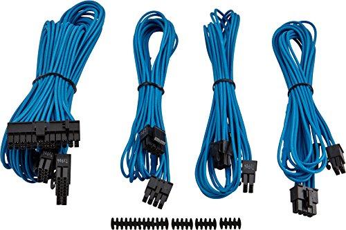 Kit de Cabos Sleeved, Corsair, Cabos Sleeved, Outros Componentes, Azul