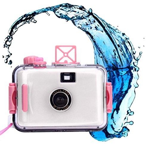 Waterproof Camera Emubody Underwater Water Waterproof Mini 35mm Film Camera (White, 35mm)