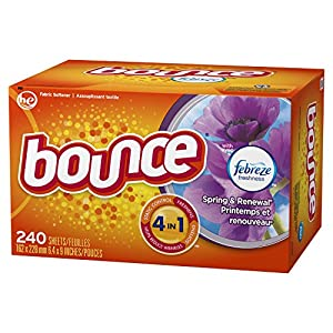 Bounce Fabric Softener Sheets, Spring/Renewal, 240 Count