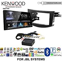 Volunteer Audio Kenwood DMX7704S Double Din Radio Install Kit with Apple CarPlay Android Auto Bluetooth Fits 2006-2012 Toyota RAV4 with Amplified System