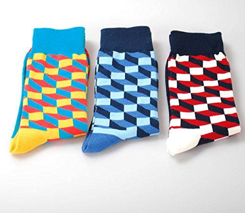 Amazon.com: PinkBTFY Mens Cotton Colorful Happy Socks Gift Box Fruit Crazy Calcetines Hombre Funny Skate Socks B1: Clothing