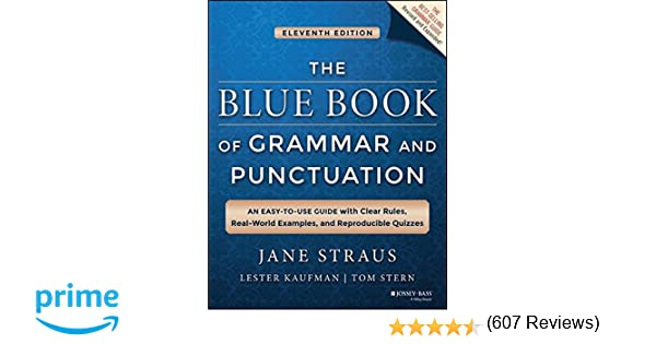Amazon.com: The Blue Book of Grammar and Punctuation: An Easy-to ...