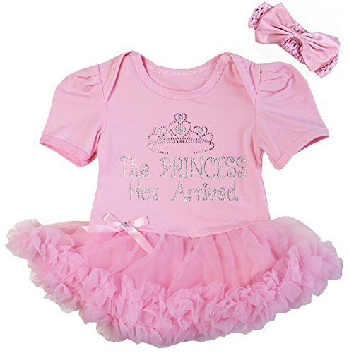 Kirei Sui Baby The Princess Has Arrived Bodysuit Tutu Small Pink