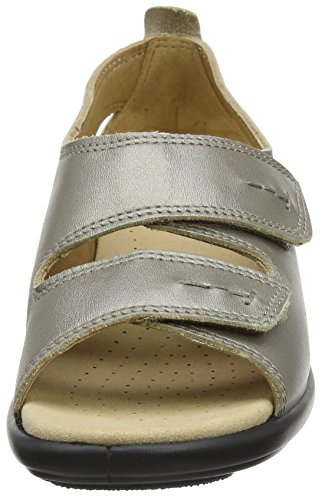 Femme 097 Metallic Nickel Ouvert Bout Florence Hotter Or twxvAq7ta