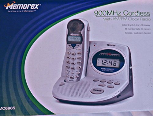 900MHz Cordless With AM/FM clock radio