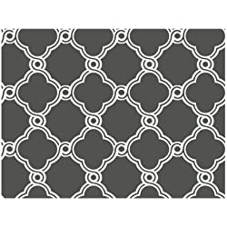 York Wallcoverings AP7490 Trellis Wallpaper, Charcoal Gray/White - Ultra Removable