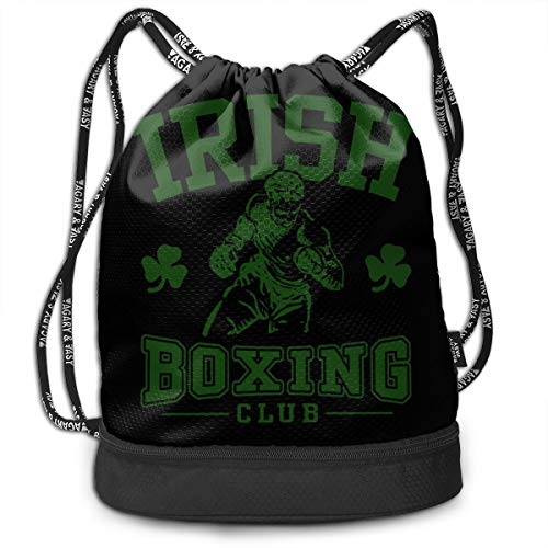 YyTiin Irish Boxing Team Unisex Waterproof Drawstring Backpack Sports Dance Storage Bags Sackpack Gym Traveling Outdoor]()